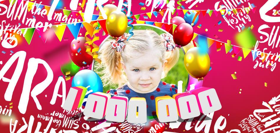 Канал Kids Diana Show набрал 1 000 000 подписчиков!